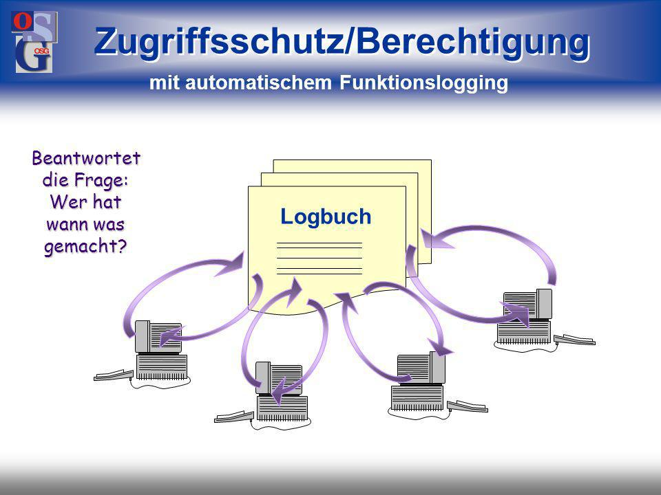 Zugriffsschutz/Berechtigung mit automatischem Funktionslogging