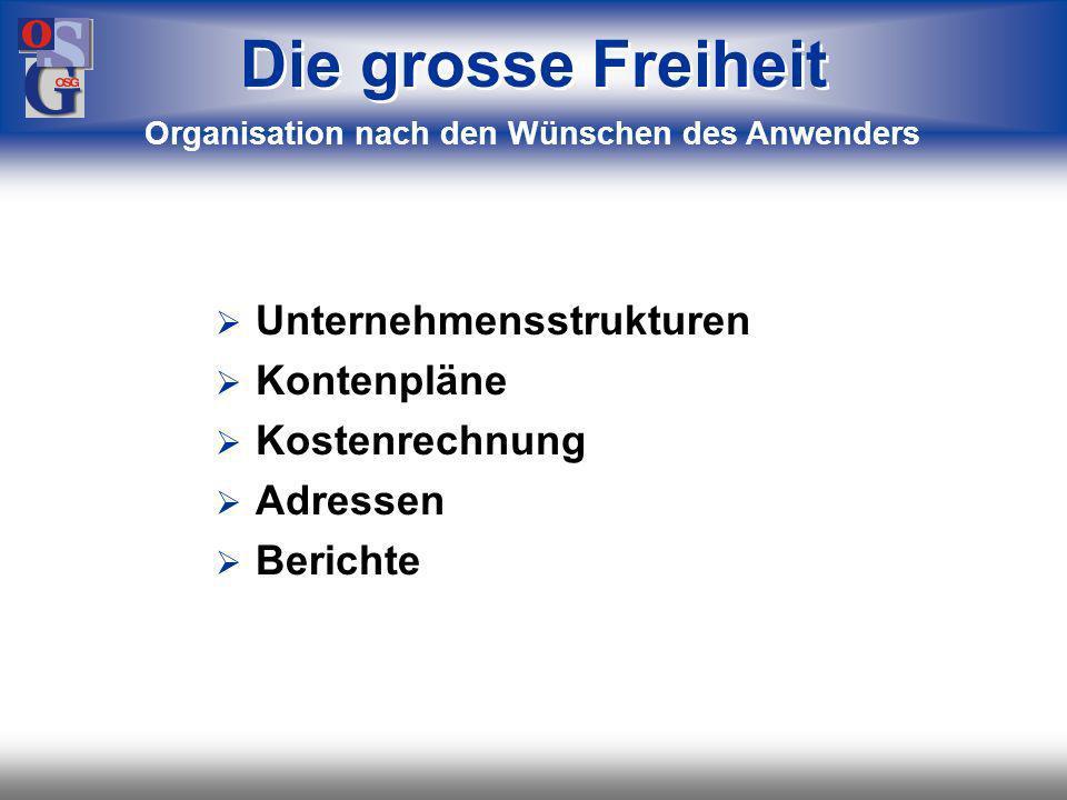Organisation nach den Wünschen des Anwenders