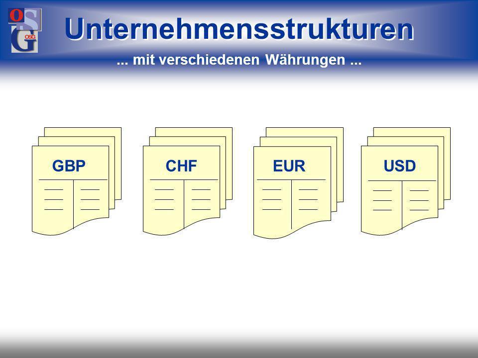 Unternehmensstrukturen ... mit verschiedenen Währungen ...