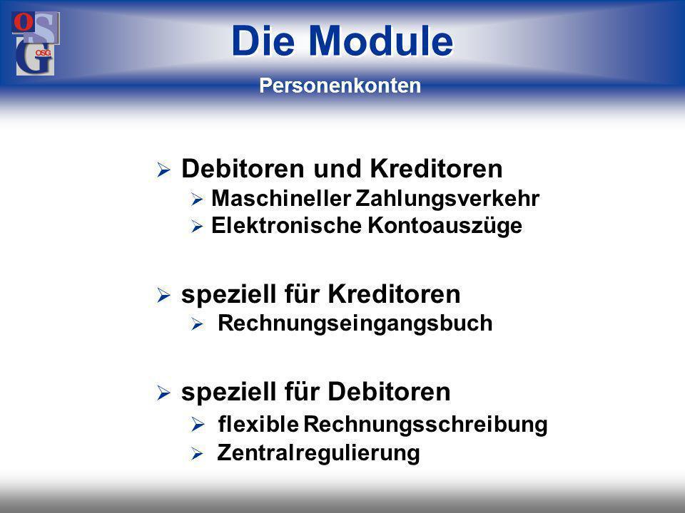 Die Module Debitoren und Kreditoren speziell für Kreditoren