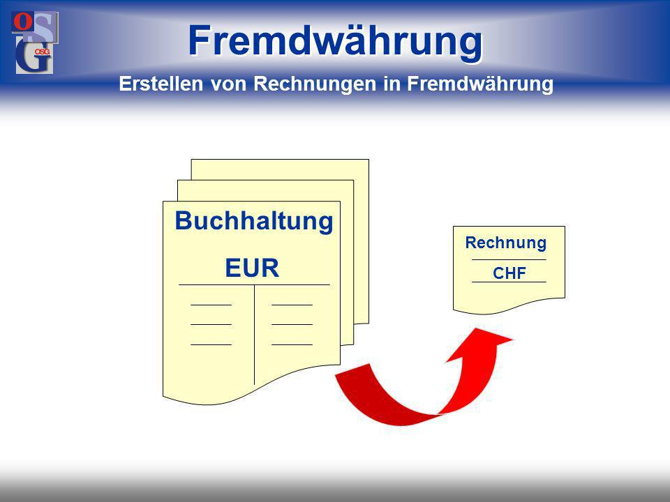 Erstellen von Rechnungen in Fremdwährung