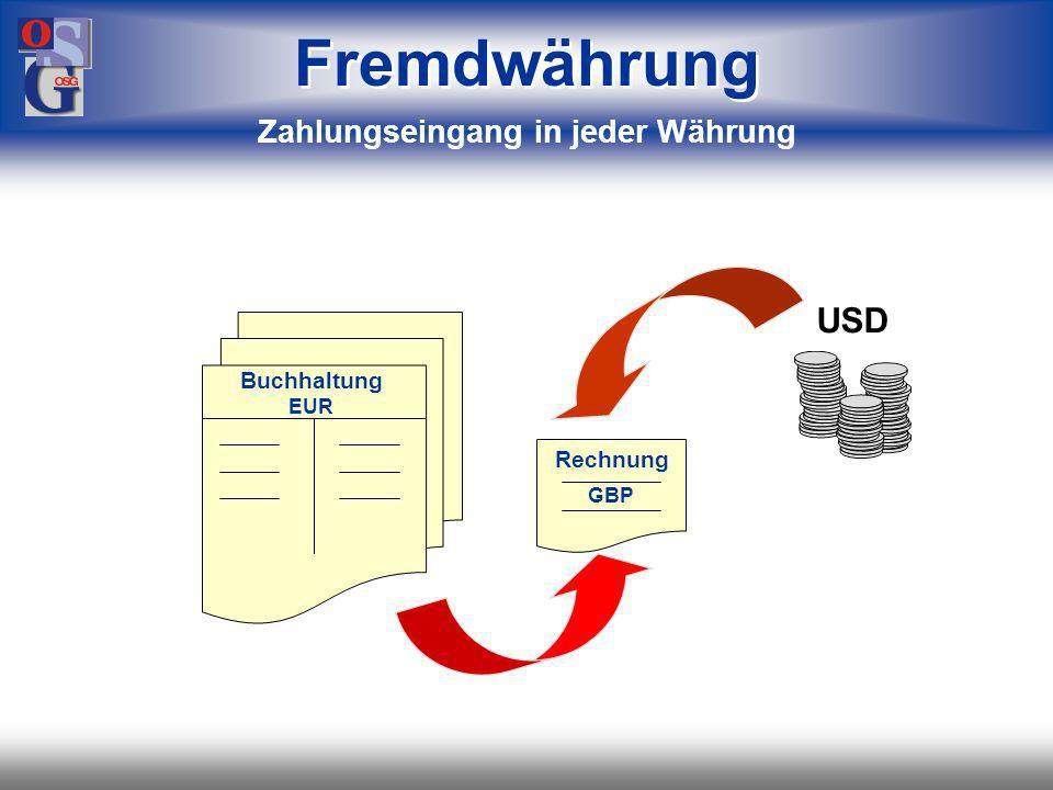 Zahlungseingang in jeder Währung