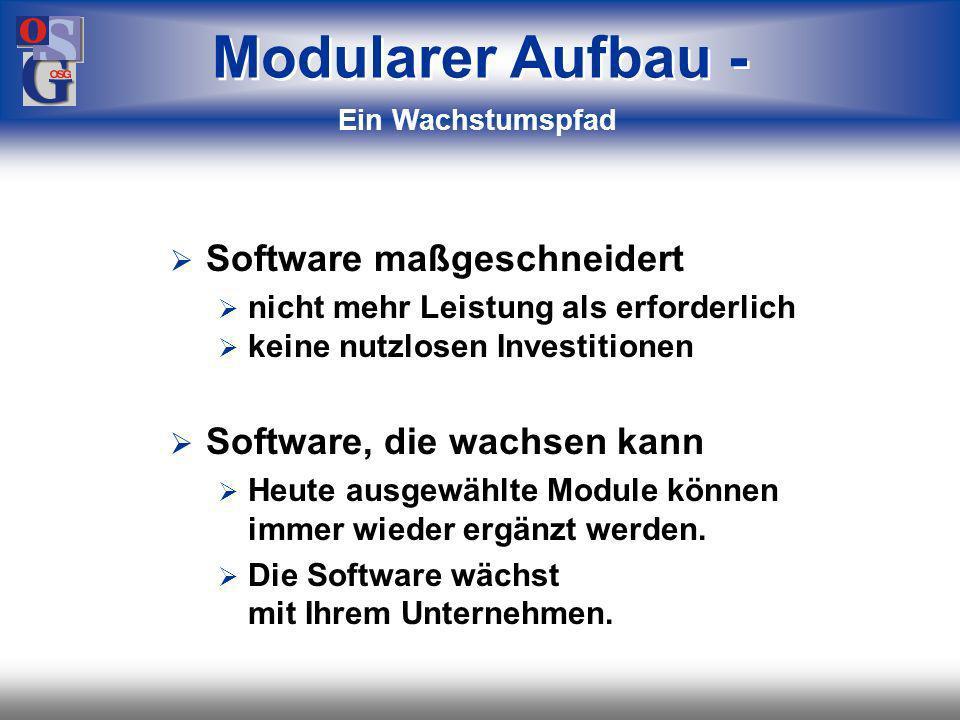 Modularer Aufbau - Software maßgeschneidert Software, die wachsen kann