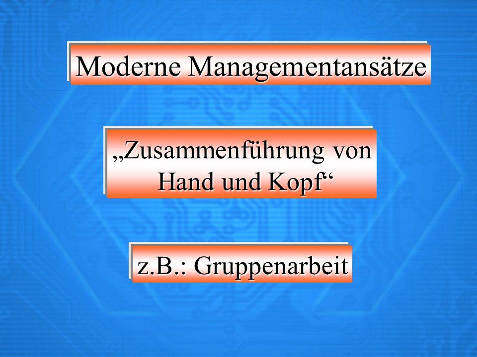 Moderne Managementansätze
