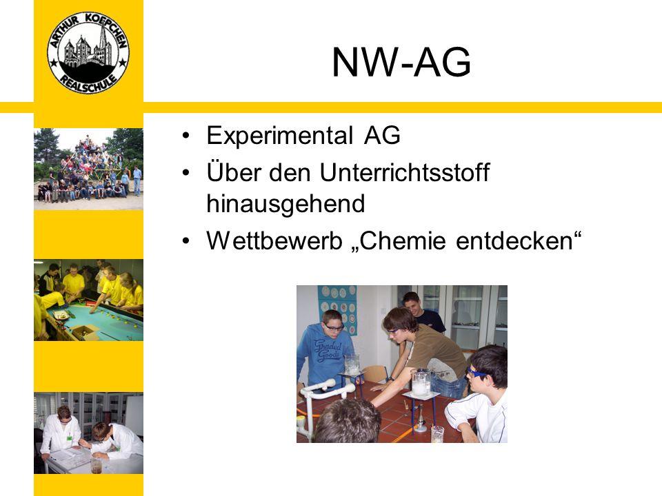 NW-AG Experimental AG Über den Unterrichtsstoff hinausgehend