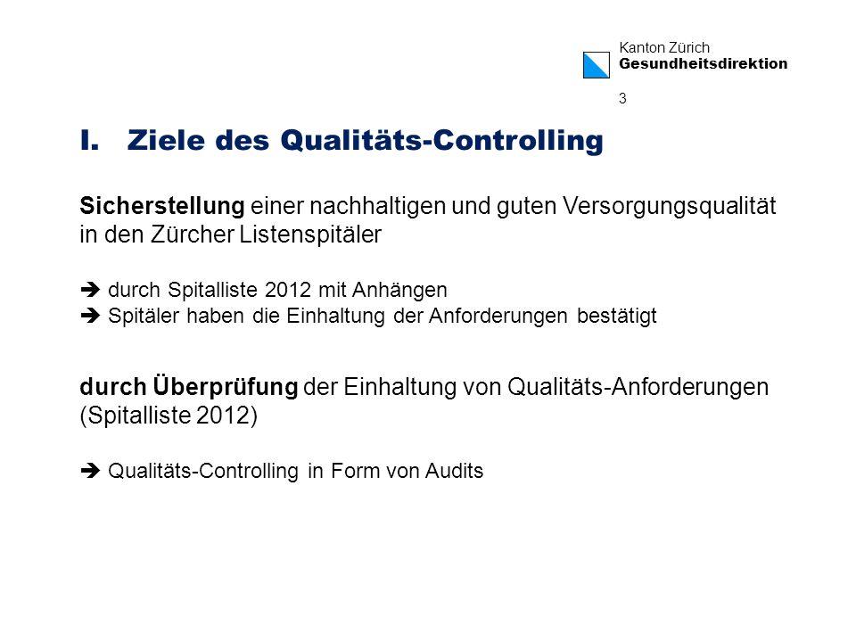 Ziele des Qualitäts-Controlling