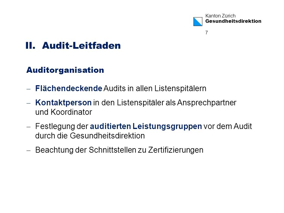 II. Audit-Leitfaden Auditorganisation