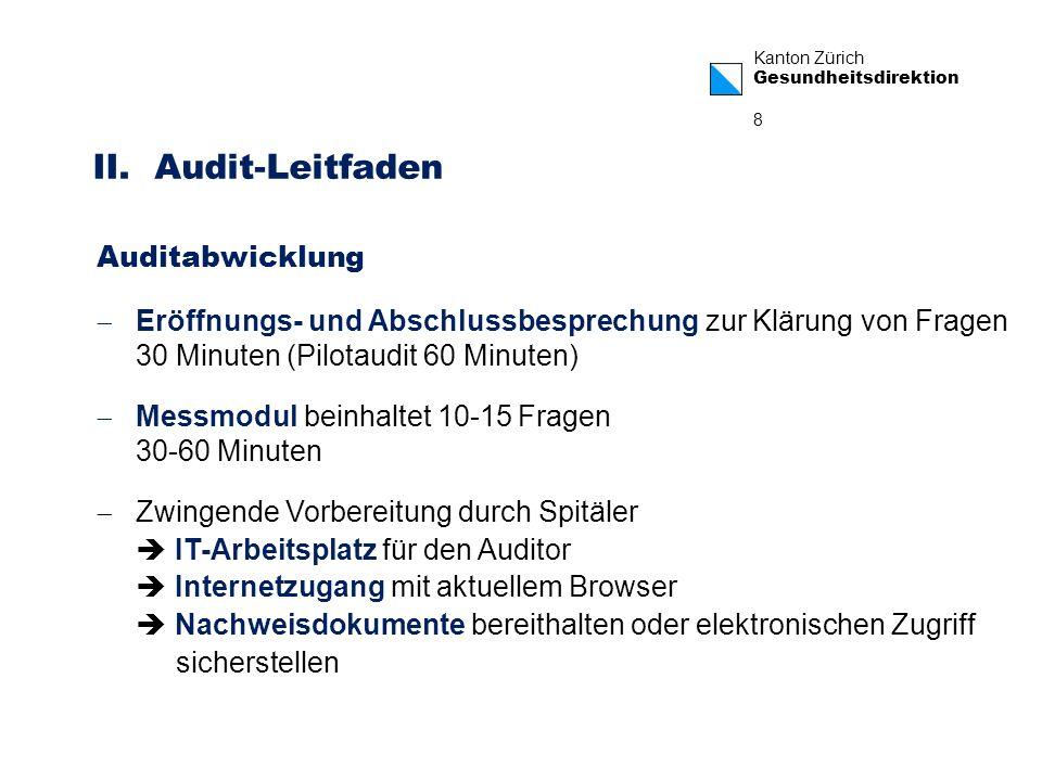 II. Audit-Leitfaden Auditabwicklung