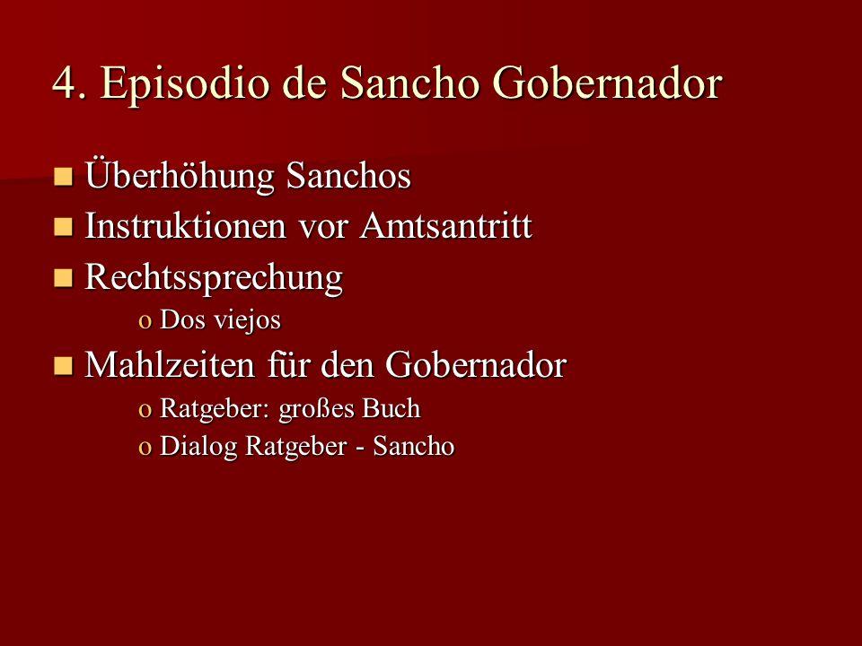 4. Episodio de Sancho Gobernador