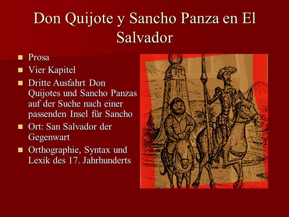 Don Quijote y Sancho Panza en El Salvador