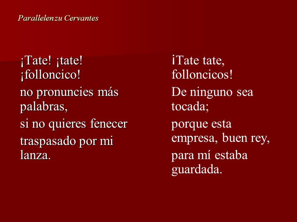 Parallelen zu Cervantes