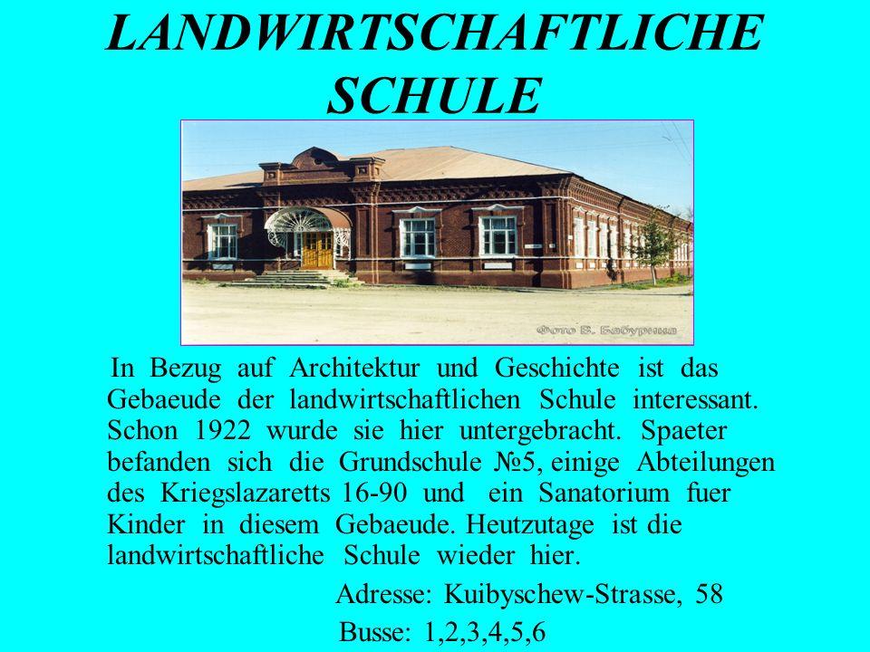 LANDWIRTSCHAFTLICHE SCHULE