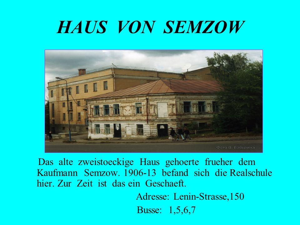 Adresse: Lenin-Strasse,150