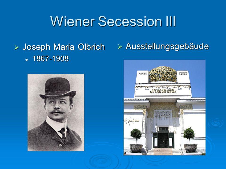 Wiener Secession III Joseph Maria Olbrich Ausstellungsgebäude