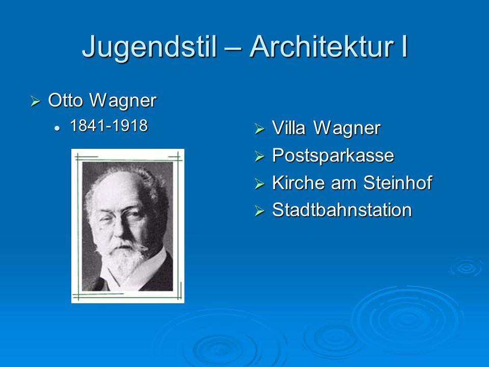 Jugendstil – Architektur I