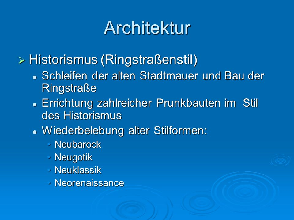Architektur Historismus (Ringstraßenstil)