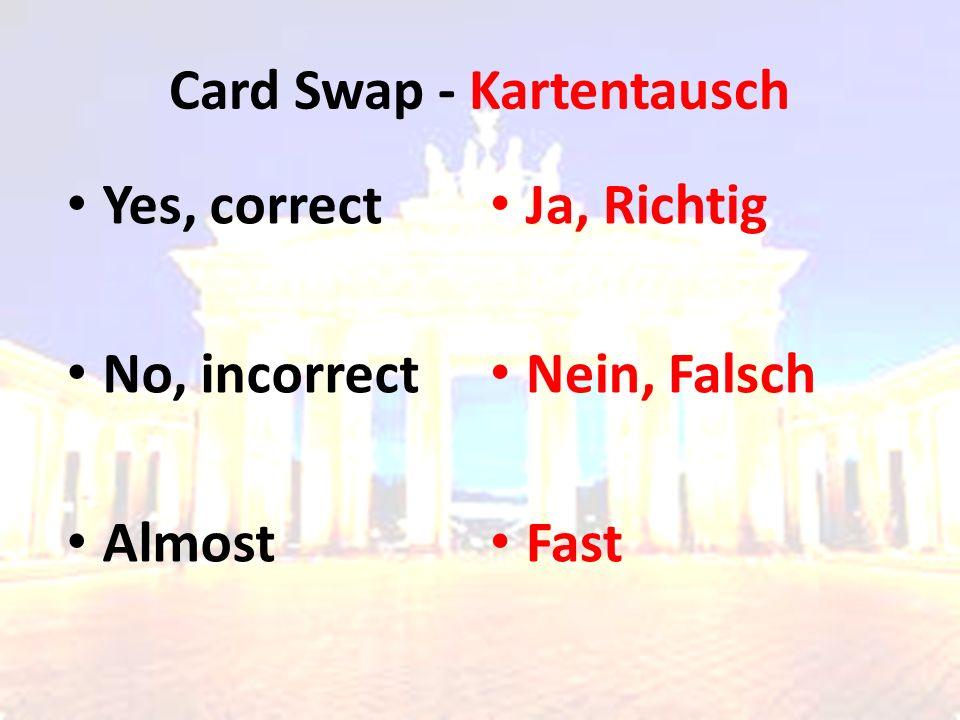 Card Swap - Kartentausch