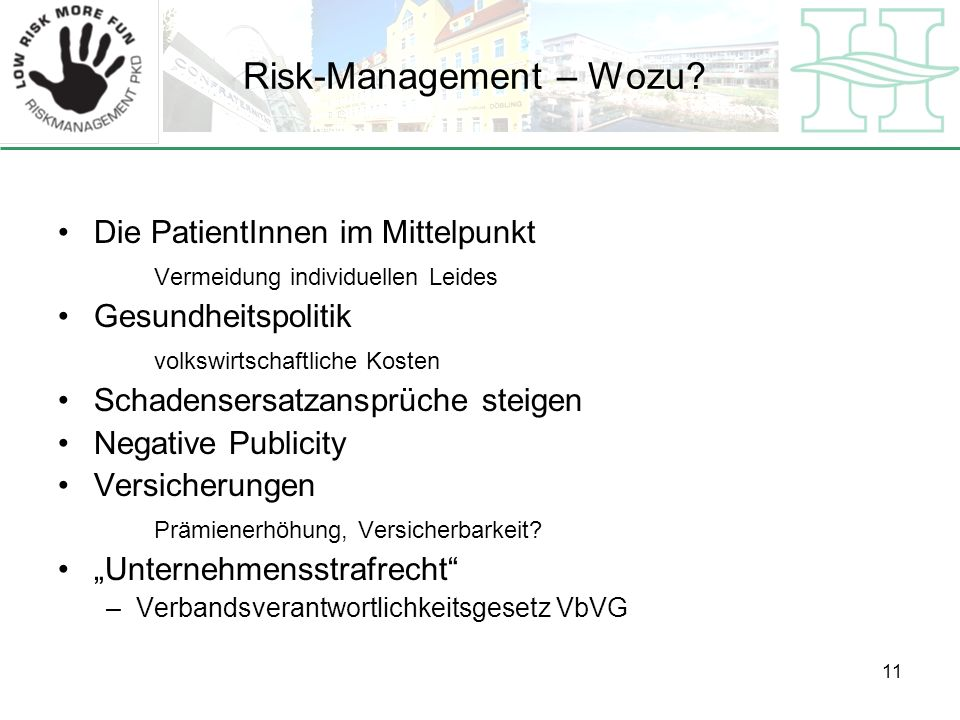 Risk-Management – Wozu