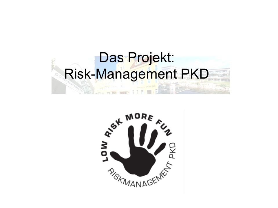 Das Projekt: Risk-Management PKD