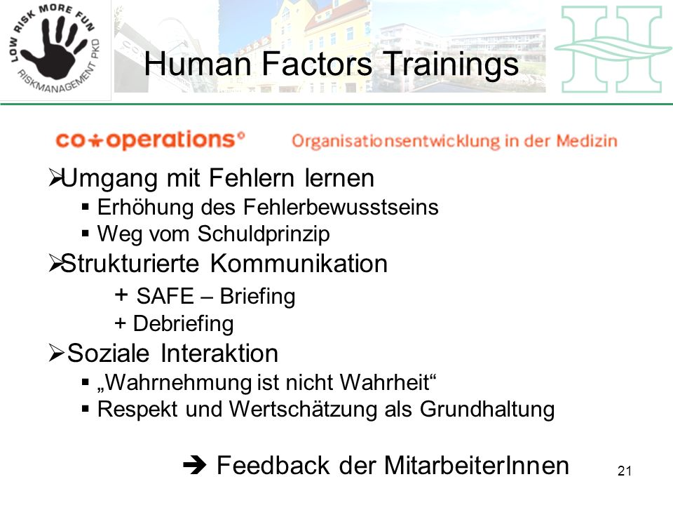 Human Factors Trainings