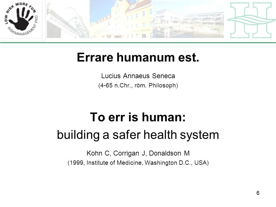 building a safer health system