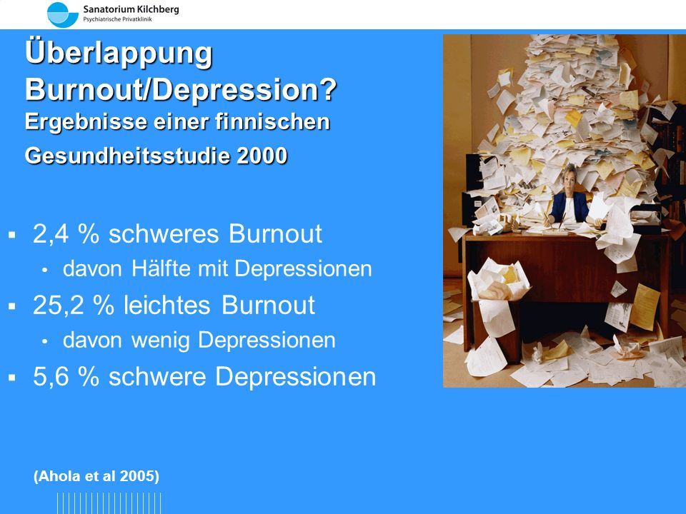 Überlappung Burnout/Depression