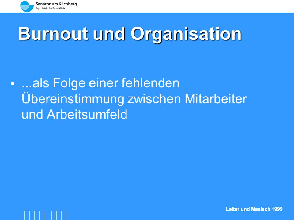 Burnout und Organisation