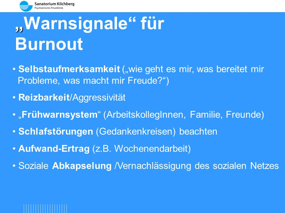 """Warnsignale für Burnout"