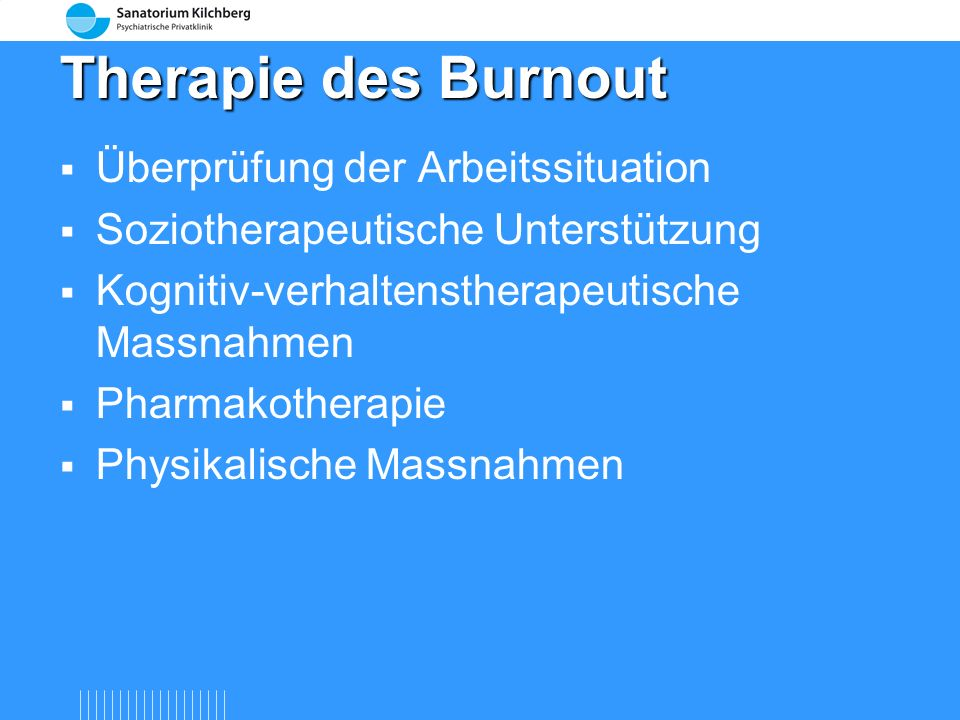 Therapie des Burnout Überprüfung der Arbeitssituation