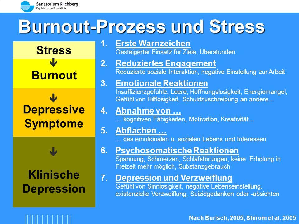 Burnout-Prozess und Stress