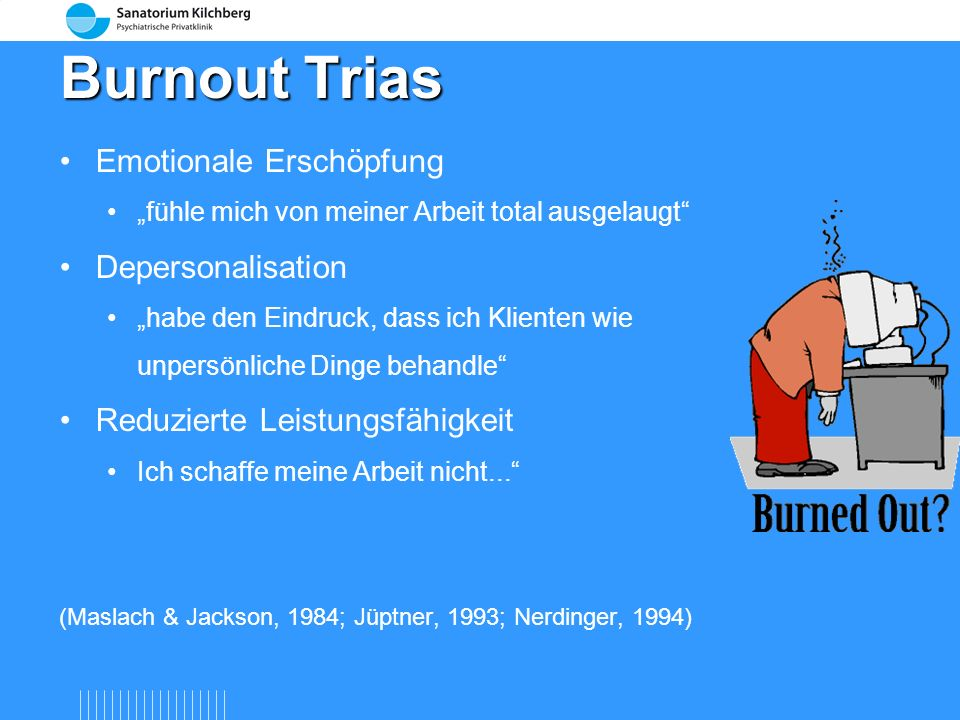 Burnout Trias Emotionale Erschöpfung Depersonalisation