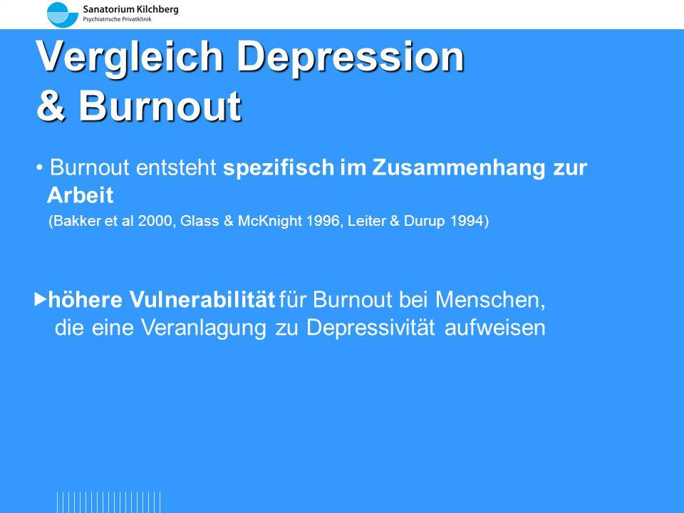 Vergleich Depression & Burnout