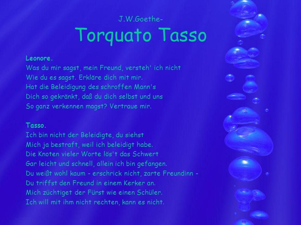 J.W.Goethe- Torquato Tasso