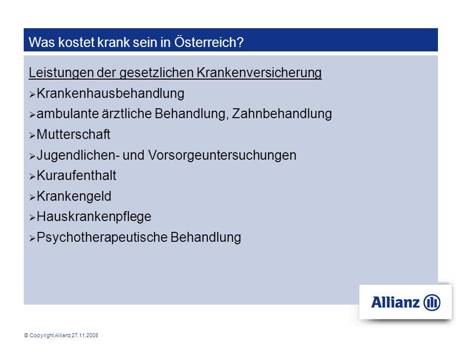 Was kostet krank sein in Österreich