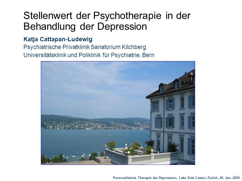 Stellenwert der Psychotherapie in der Behandlung der Depression