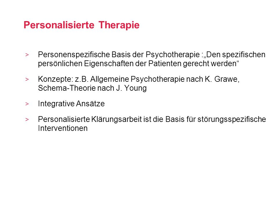 Personalisierte Therapie