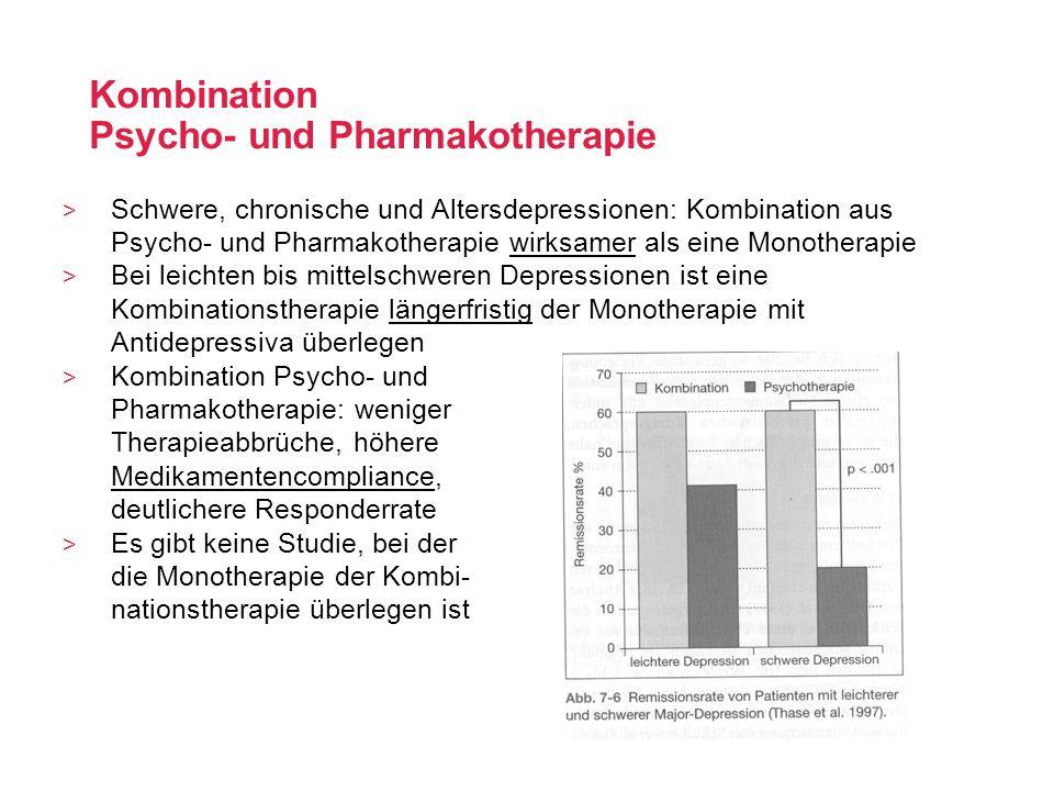 Kombination Psycho- und Pharmakotherapie