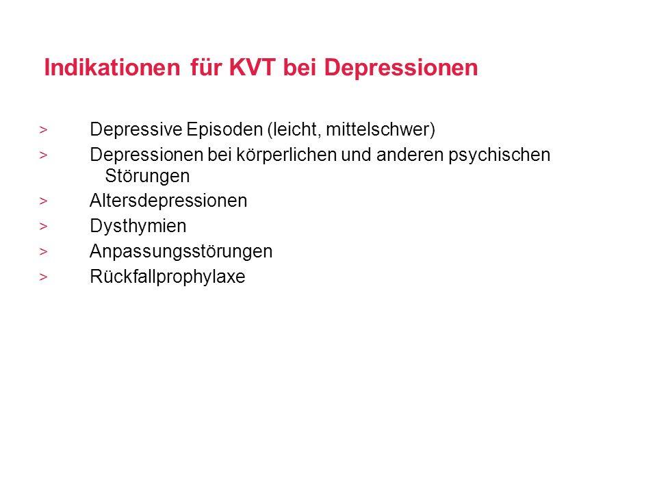 Indikationen für KVT bei Depressionen