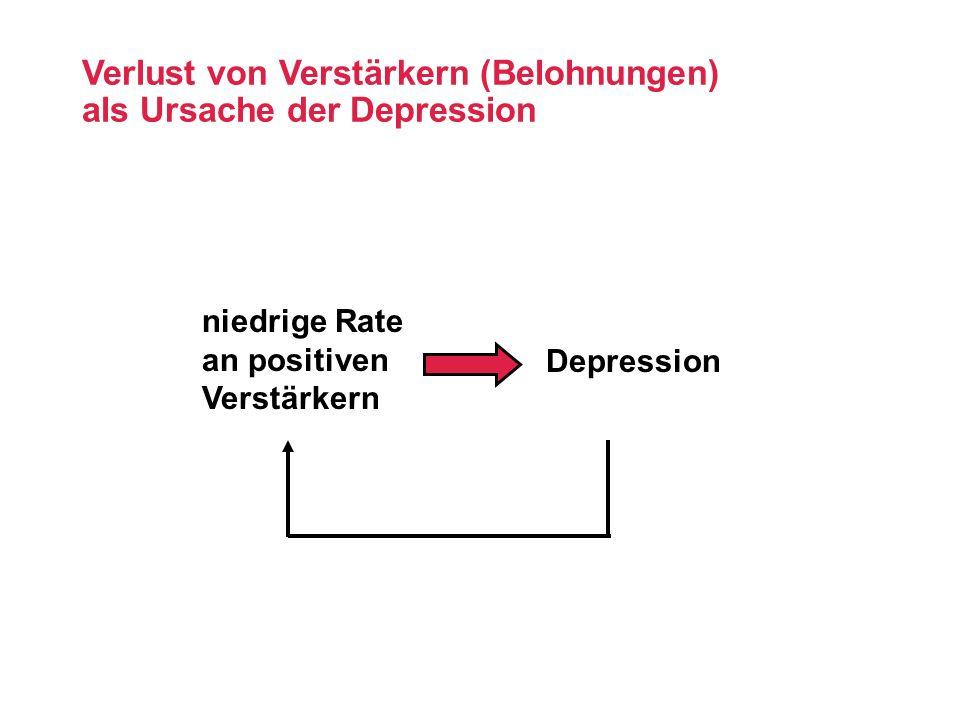 Verlust von Verstärkern (Belohnungen) als Ursache der Depression