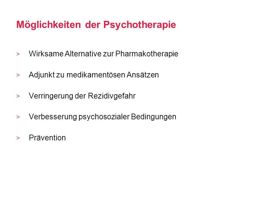 Möglichkeiten der Psychotherapie