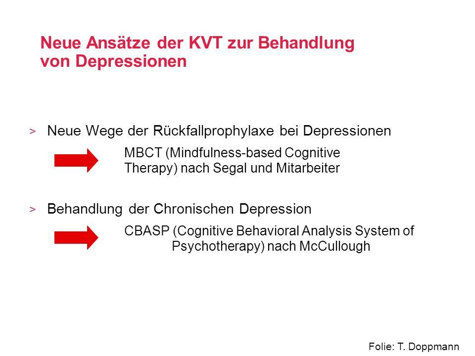 Neue Ansätze der KVT zur Behandlung von Depressionen