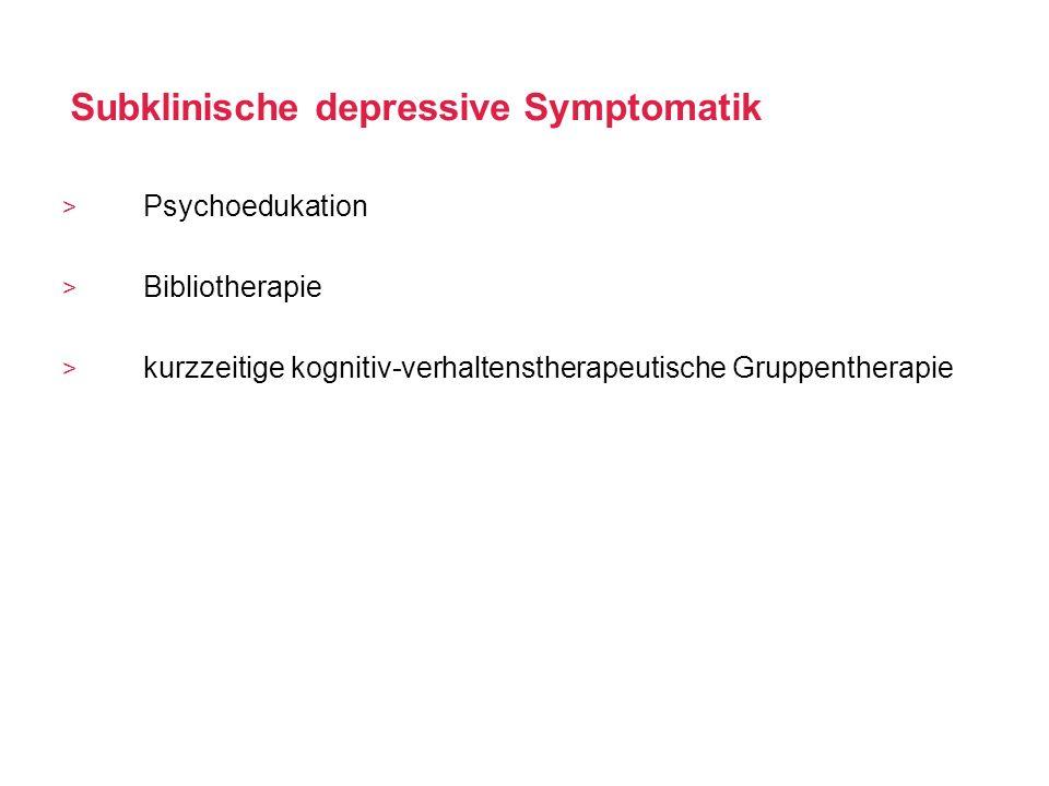 Subklinische depressive Symptomatik