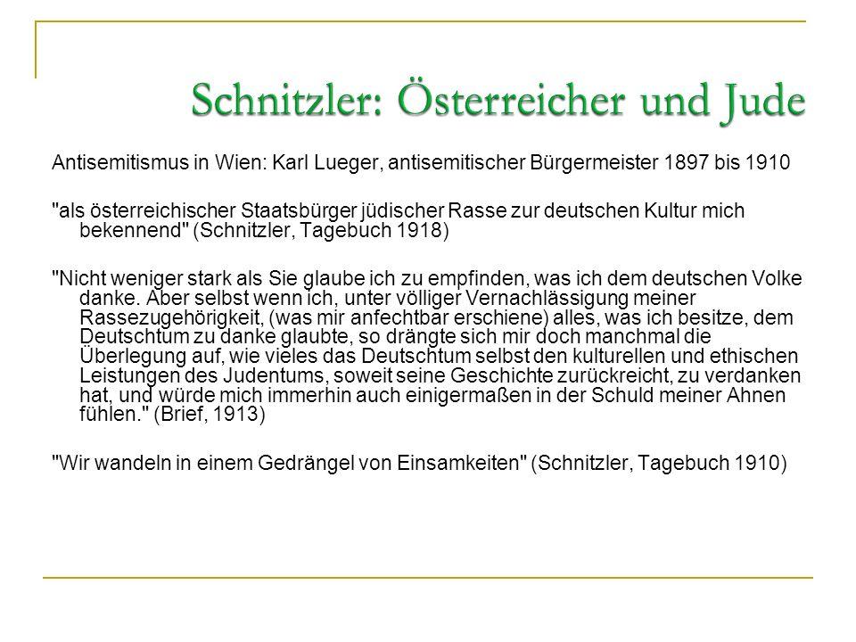 Schnitzler: Österreicher und Jude