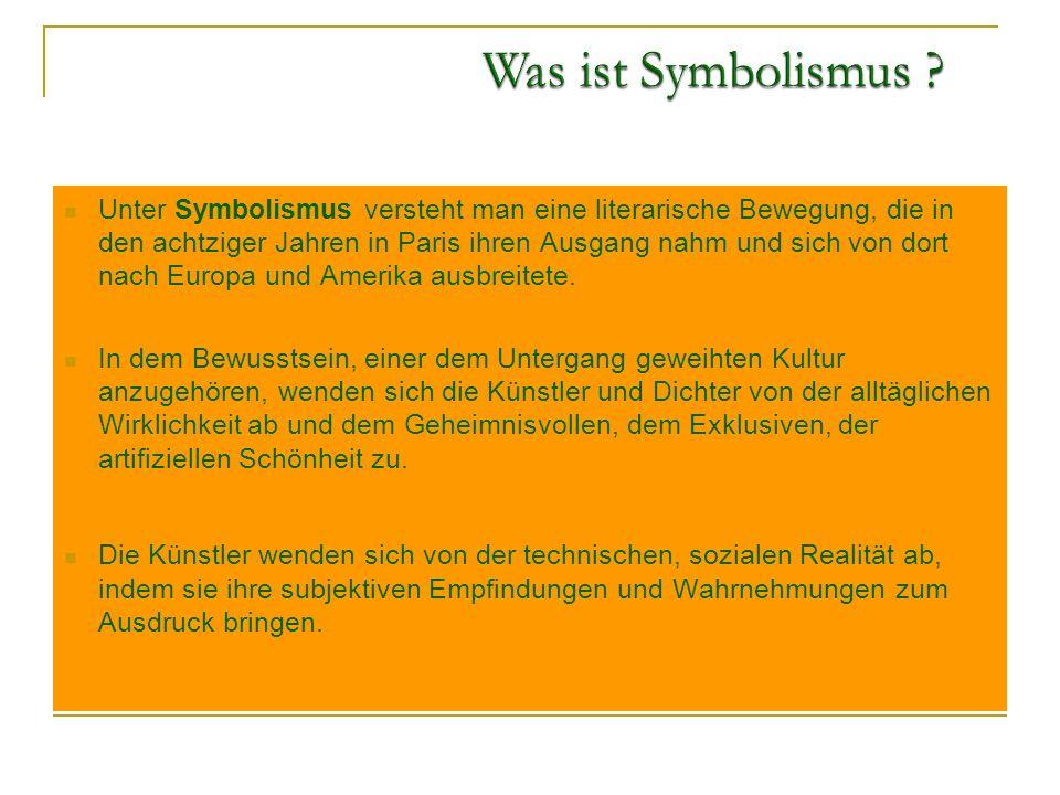 Was ist Symbolismus