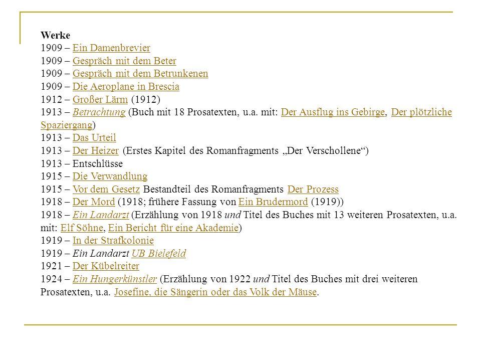 Werke1909 – Ein Damenbrevier. 1909 – Gespräch mit dem Beter. 1909 – Gespräch mit dem Betrunkenen. 1909 – Die Aeroplane in Brescia.