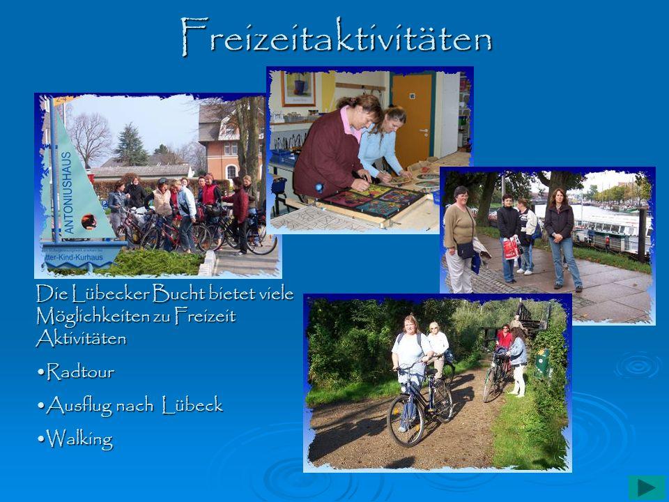 Freizeitaktivitäten Die Lübecker Bucht bietet viele Möglichkeiten zu Freizeit Aktivitäten. Radtour.