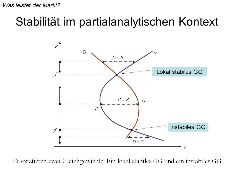 Stabilität im partialanalytischen Kontext