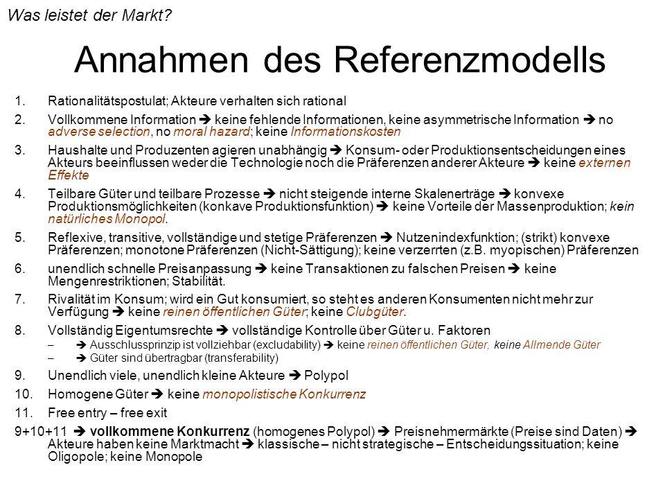 Annahmen des Referenzmodells