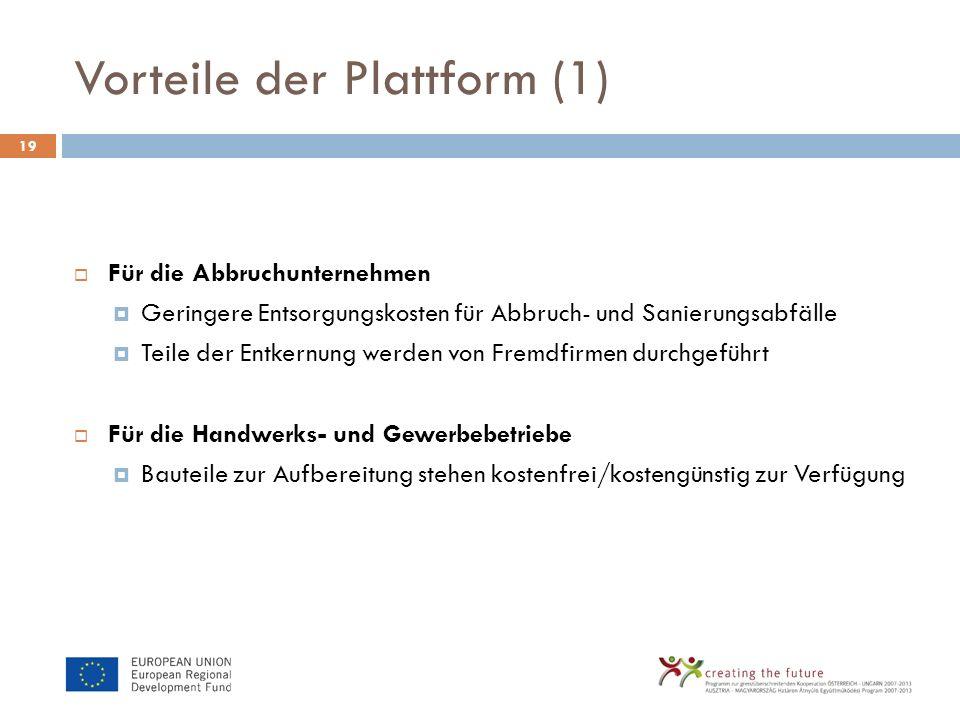 Vorteile der Plattform (1)