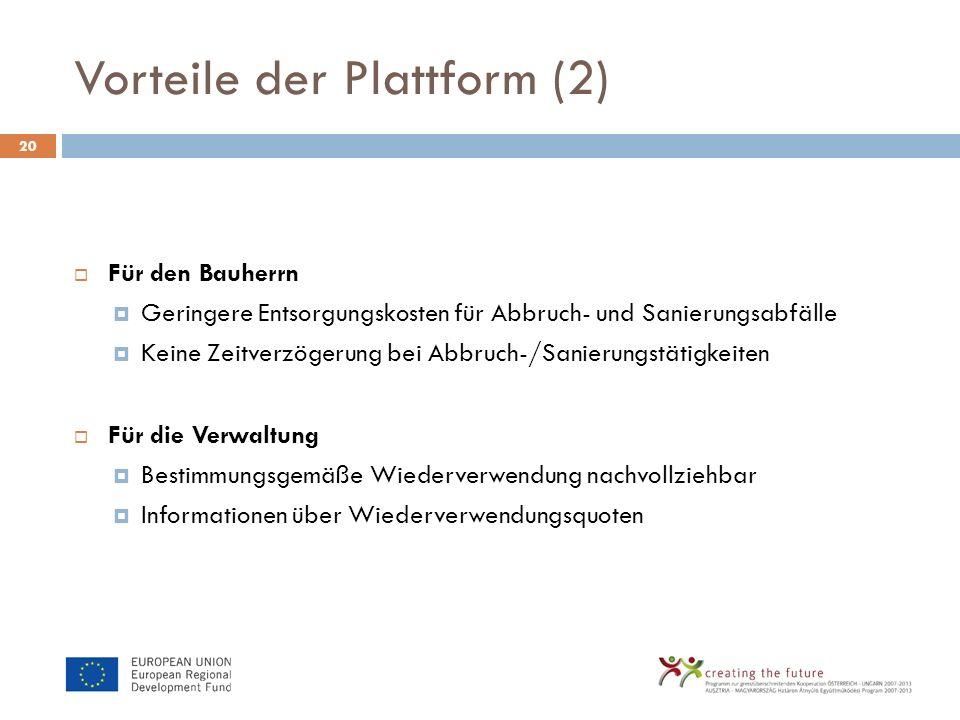 Vorteile der Plattform (2)